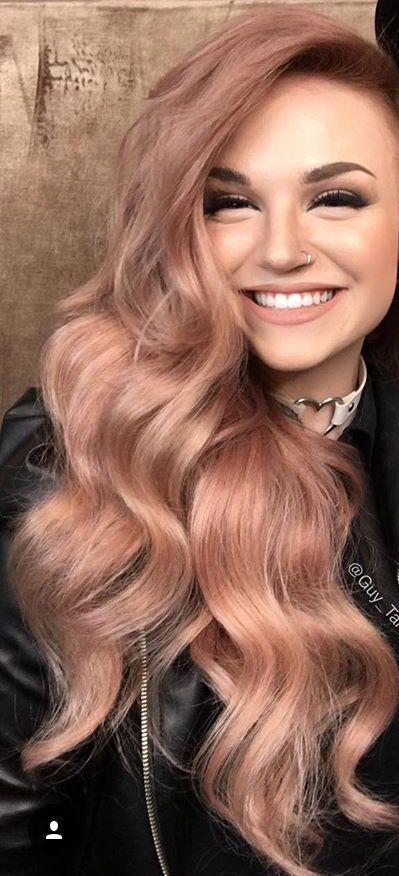 مدل موهای زیبای دخترانه به رنگ رزگلد rose gold ویژه دختر خانم های مشکل پسند