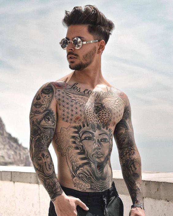 مدل های ریش و تاتو مردانه | مردان لاکچری | زیباترین و جدیدترین مدل تاتو مردانه