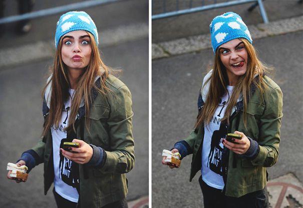 واکنش جالب چهره های معروف به دوربین عکاس ها در خیابان و کافه