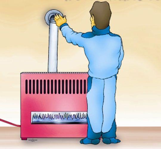 تست دودکش بخاری و آموزش نصب صحیح دودکش بخاری
