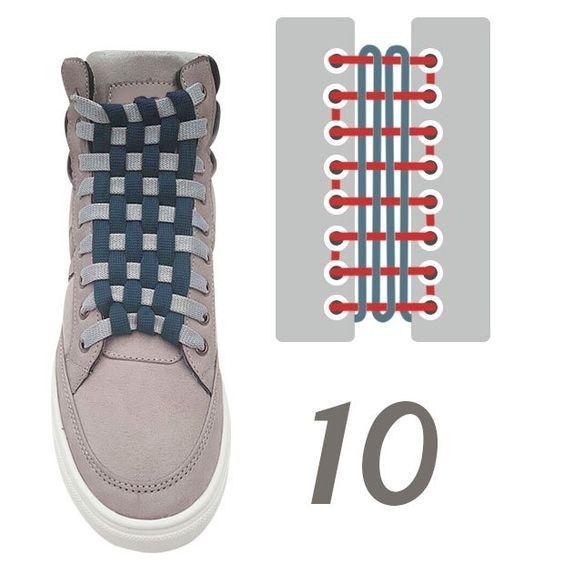 آموزش تصویری بستن بند کفش اسپرت | 15 روش جالب بستن بند کفش