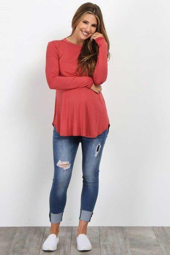 مجموعه ای زیبا از مدل تونیک بارداری + راهنمای خرید + انواع لباس بارداری