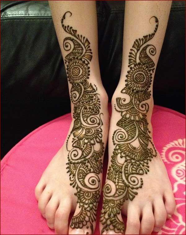 طرح حنا عربی روی دست و پا | نقش حنا خلیجی + روش پاک کردن حنا