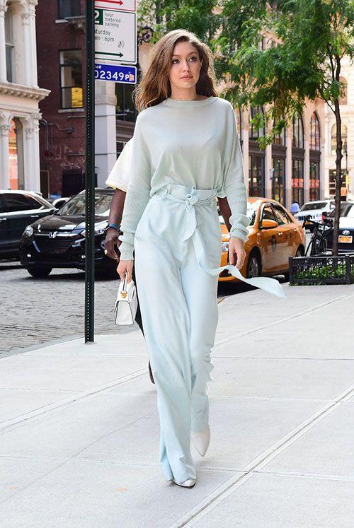 جدیدترین استایل های جی جی حدید تک ستاره مدلینگ زیبای جهان | مدل لباس