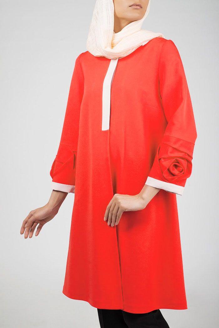 لباس و آرایش زنانه رنگ مرجانی 2021