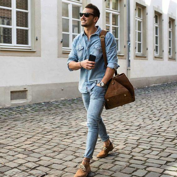 مدل پیراهن 2021 جین مردانه + راهنمای ست کردن و انتخاب لباس جین مردانه 1400