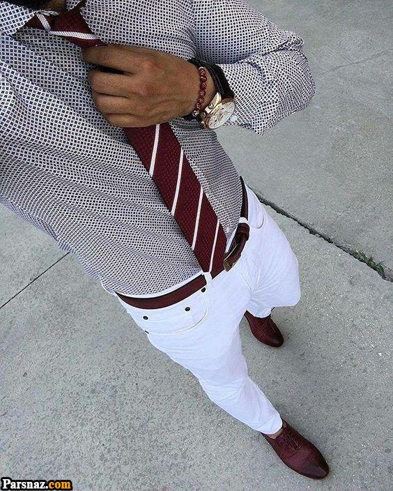 لباس و تیپ رسمی مردانه بسیار خوش تیپ | استایل رسمی مردانه بدون کت بسیار شیک