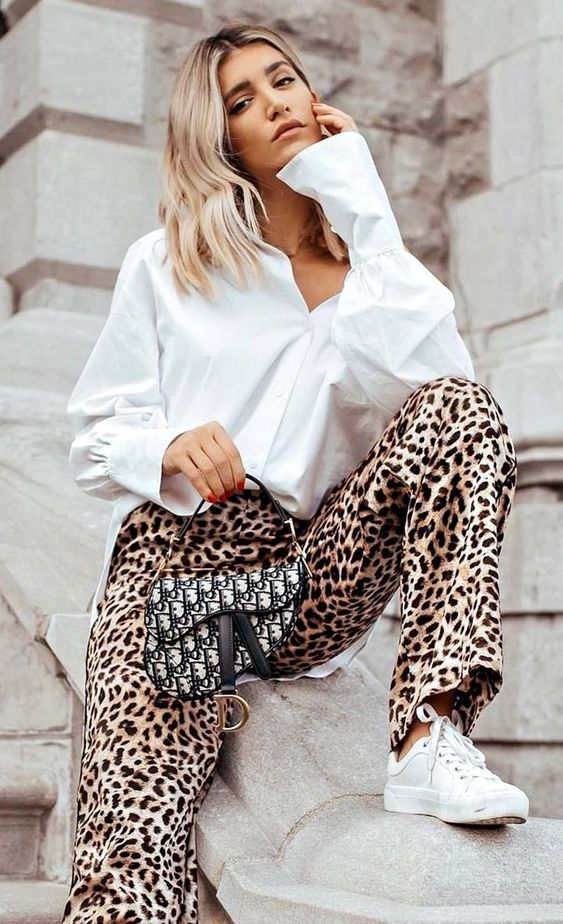 لباس مجلسی پلنگی 2019 | بهترین مدل ها و ست های پلنگی زنانه 98