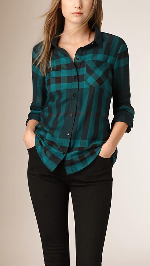 پیراهن چهارخانه زنانه و دخترانه | بهترین مدل های لباس زنانه + راهنمای ست کردن