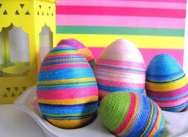 تزیین سفره هفت سین 99 تنگ ماهی و تخم مرغ رنگی 1399