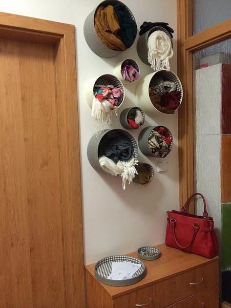 انواع آویز شال و روسری | بهترین آویزهای برای سازماندهی