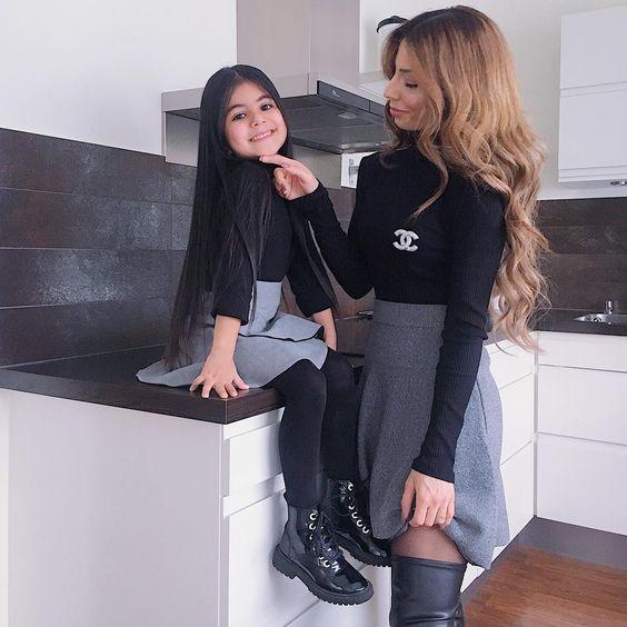 لباس ست مادر و دختر مد 2019   مدل لباس مادر دختری 98 + راهنمای ست کردن