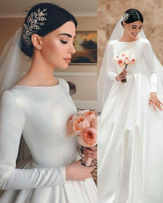 مدل لباس عروس پوشیده (بهترین مدل ها + راهنمای انتخاب لباس عروس اسلامی)