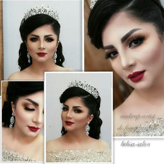 30 مدل آرایش عروس ایرانی ۹۸ و ۲۰۱۹ (زیباترین مدل ها + ترفندهای آرایشی)