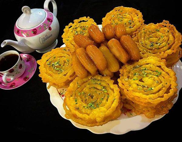 طرز تهیه زولبیا و بامیه به روش قنادی و مجلسی برای ماه رمضان + روش های تزیین مجلسی