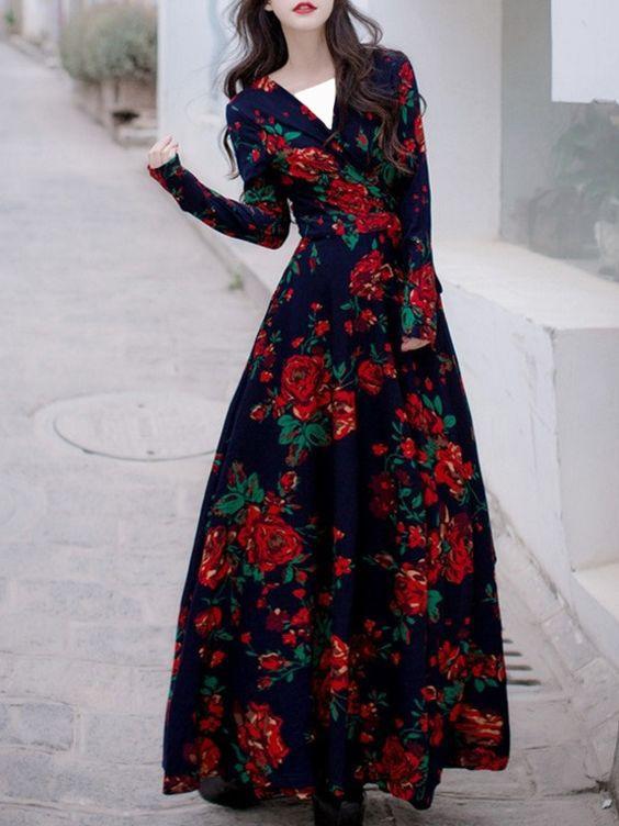30 مدل لباس گلدار مجلسی + راهنمای خرید و انتخاب و اصول ست کردن