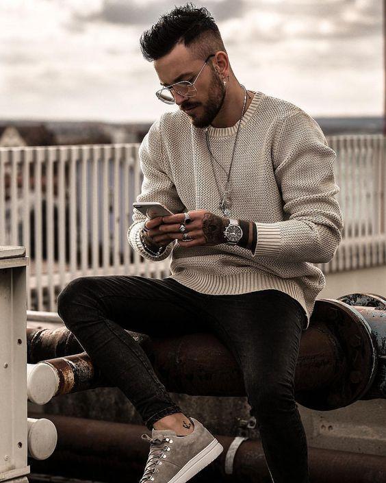 25 مدل پلیور و بافت مردانه اسپرت + راهنمای خرید و ست کردن