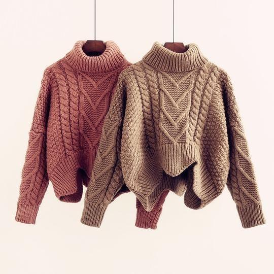 25 مدل بافت یقه اسکی دخترانه + راهنمای خرید و ست کردن لباس بافتنی زنانه