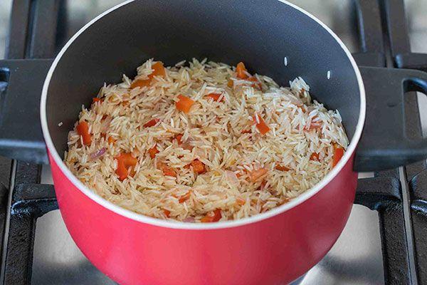 طرز تهیه دمپخت زعفرانی مجلسی همراه با مرغ