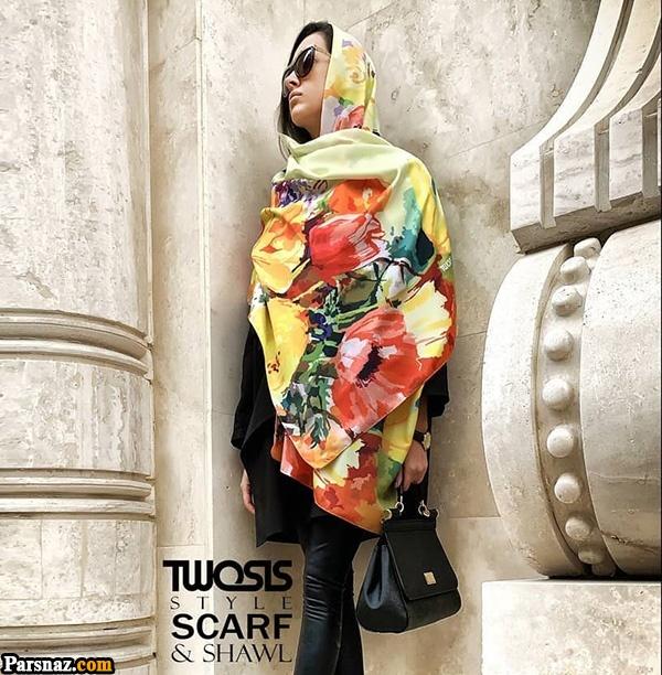 مدل شال و روسری عید ۹۹ | مدل های جدید + راهنمای انتخاب شال و روسری نوروز 99