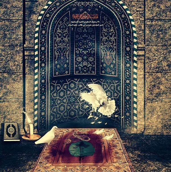 اشعار تسلیت شهادت حضرت علی (ع) + عکس نوشته های جدید شب قدر