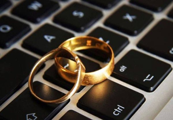 ثبت اولین ازدواج اینترنتی (لایو) در جهان + عکس
