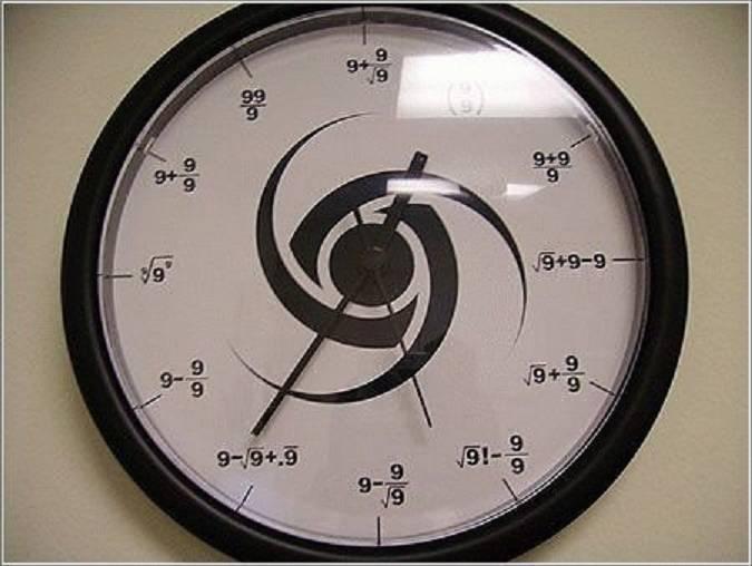 نمایش پست :ساعتی جالبی که فقط عدد 9 دارد(عکس)