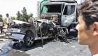 تصادف وحشتناک و سوخته شدن 2 سرنشین خودرو + عکس