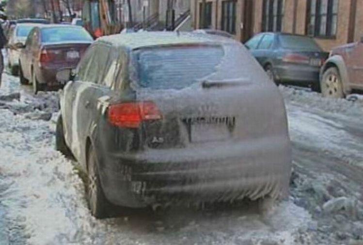 ماشین یخ زده دیده بودی!!