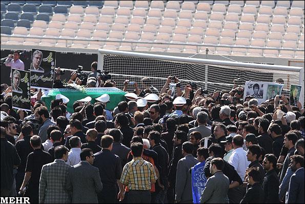 مراسم تشییع پیکر ناصر حجازی