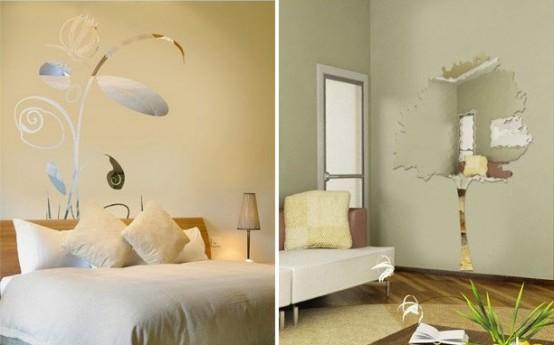 تزیین بسیار زیبای منزل و اتاق ها با آینه