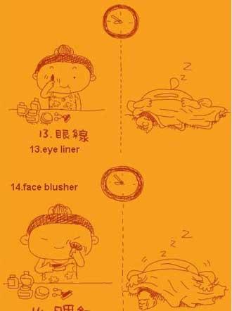 تفاوت دانشجوهای دختر و پسر ( کاریکاتور )