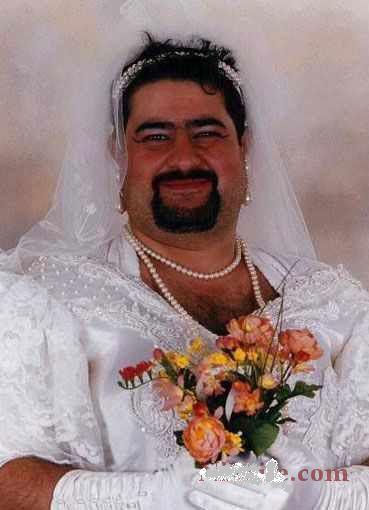 اگه آقایون یه زمانی بخوان عروس بشن چه شكلی میشن !!