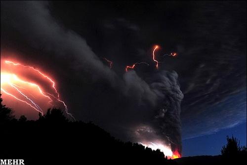 عکس های شگفت انگیز از فوران آتشفشان شیلی