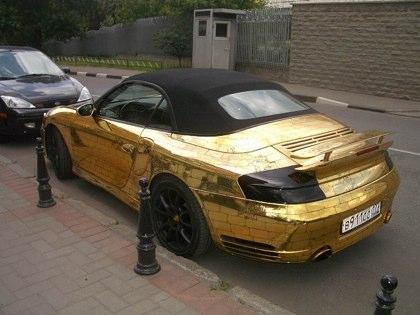 پورشه ای ساخته شده از طلا