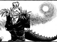 نخست وزیر صلح طلب اسرائیل (کاریکاتور)