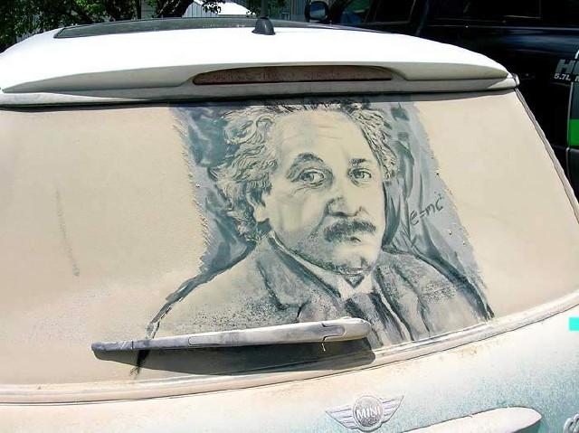 عکس های هنری زیبا بر روی ماشین های کثیف..!