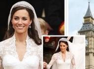 لباس عروس زوج سلطنتی انگلیس در کاخ باکینگهام: عکس