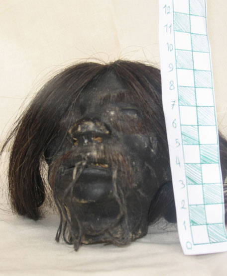 سر واقعی یك انسان در موزه سعدآباد (عكس)