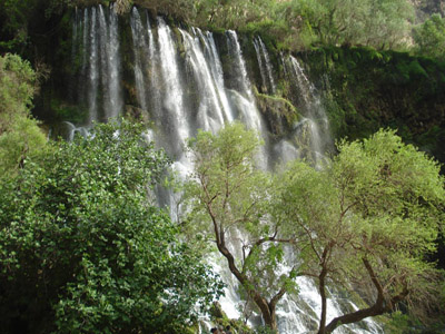 بزرگترین آبشار خاورمیانه در ایران : عکس