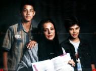 بهترین بازیگر زن سریال مختارنامه به اتفاق همسر و فرزندان