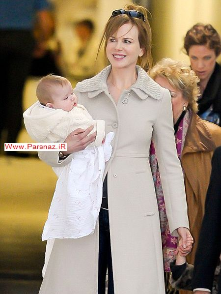 عکس هایی جدید از نیکول کیدمن و همسرش و فرزند جدیدش