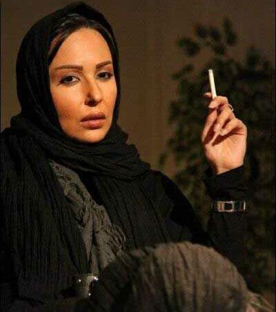 عکس سیگار کشیدن پرستو صالحی