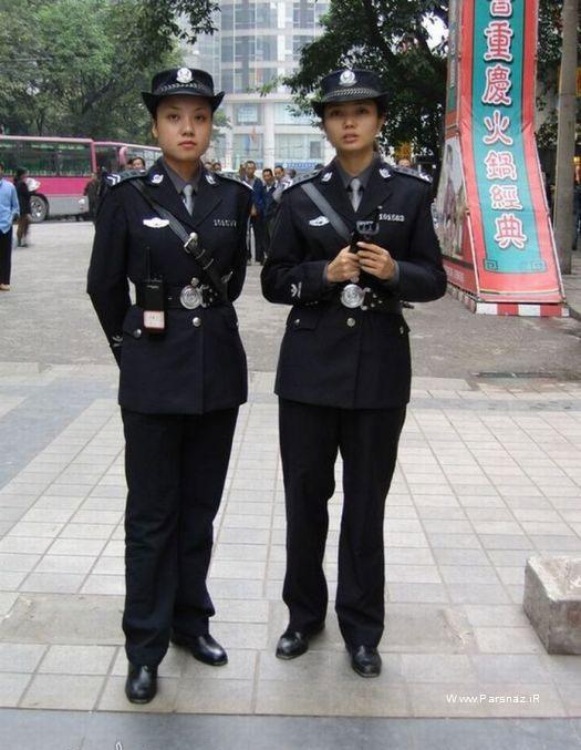 افسرهای زن در پلیس راهنمایی چین +عکس