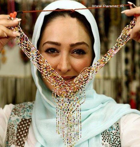 عکسهای الهام حمیدی در یک جواهر فروشی