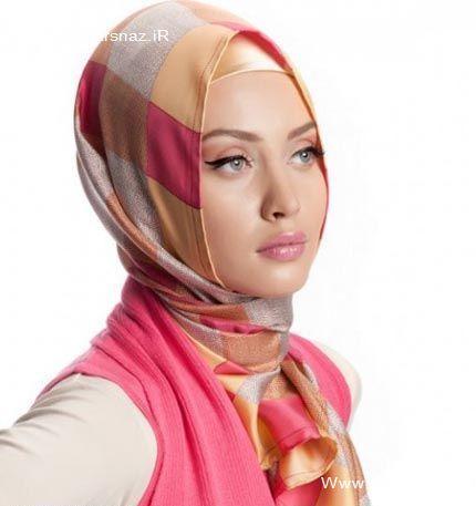 مدل روسری صورتی