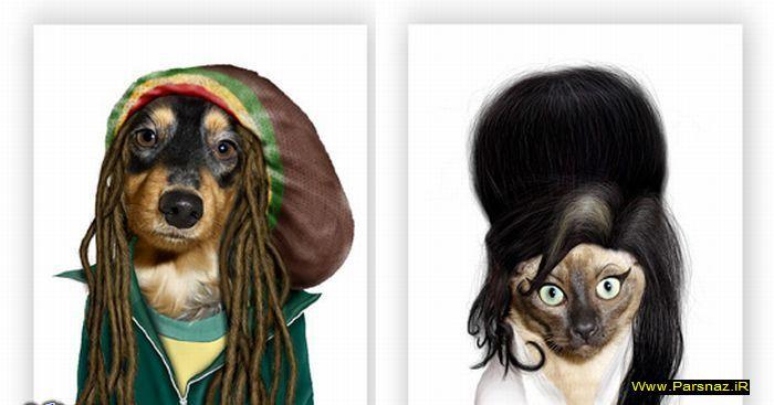عکس های حیوانات به جای افراد معروف جهان
