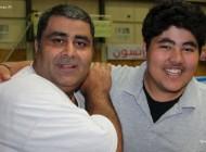عکسی از بازیگر قهوه تلخ در کنار پسرش