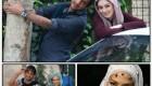 عکس های یادگاری بازیگران معروف سینما در یک فیلم