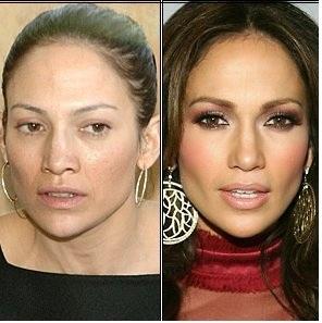 عکس های بازیگران زن معروف هالیوود قبل و بعد آرایش